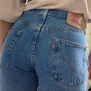 Levi's 501s mom jeans